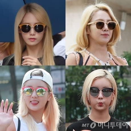Taeyeonvà SNSD cũng chọn cho mình một chiếc màu sắc đúng trend.